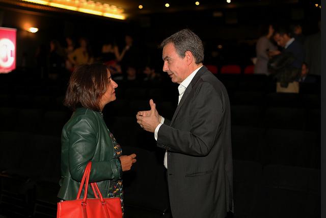 Pepa Bueno y José Luis R. Zapatero. Foto / Natalia DIez.
