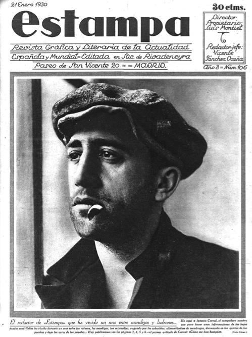 Ignacio Carral, en la portada de La Estampa, por haber protagonizado un reportaje de periodismo gonzo.
