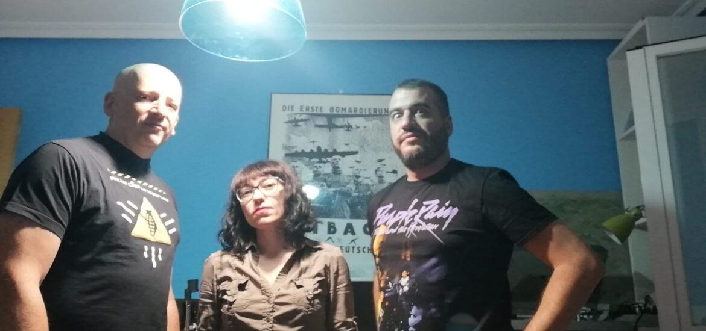 Alberto Monreal, Elena Cabrera y Santi Herrero