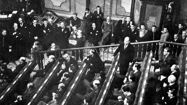 Gil Robles en el Congreso de los Diputados.