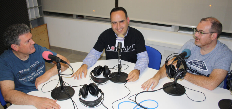 Lukas, Antonio y Jowie en Radio Carcoma